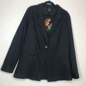 IMAN Global Chic Luxury Resort Blazer in Black